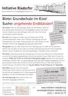 Flyer der Initiative Rixdorfer Grundschule in Neukölln